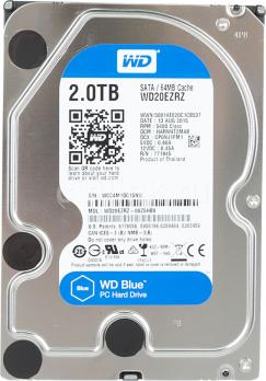 Жесткий диск WD Blue, 2Тб, HDD, SATA III, 3.5
