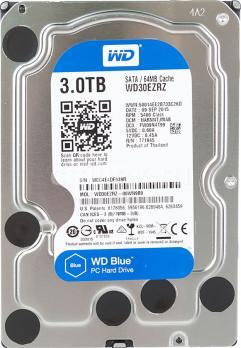 Жесткий диск WD Blue, 3Тб, HDD, SATA III, 3.5