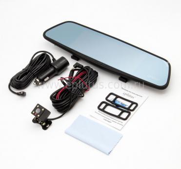 Автомобильный видеорегистратор-зеркало с 2-мя камерами Eplutus D69