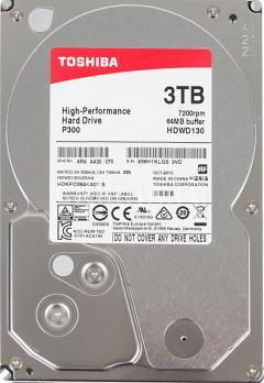 """Жесткий диск TOSHIBA P300 HDWD130UZSVA, 3ТБ, HDD, SATA III, 3.5"""""""