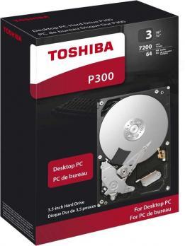 "Жесткий диск TOSHIBA P300 HDWD130EZSTA, 3ТБ, HDD, SATA III, 3.5"", RTL"