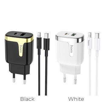 """Зарядное устройство """"C79A Zeus"""" PD+QC3.0 EU набор с кабелем"""